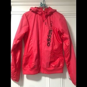 Adidas neo melon colored windbreaker Small